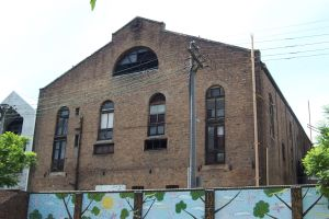 Rear view of Trocadero taken from North Newtown Public School yard. Taken by R. Parkinson 10/01/2004.