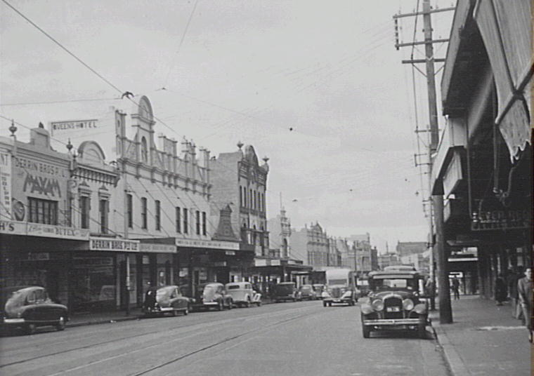 Enmore Rd 1940s (ArchivePix)