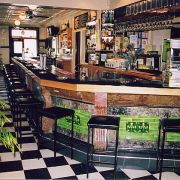 The imported Italian marble bar was installed in the early 1900s